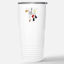 Scuba / Snorkle Cat Stainless Steel Travel Mug