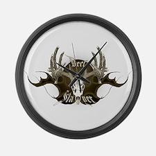 Deer Slayer Large Wall Clock