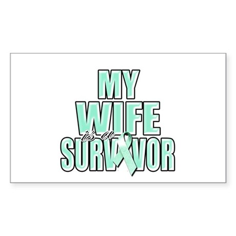 My Wife is a Survivor Sticker (Rectangle 10 pk)