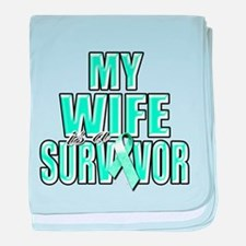 My Wife is a Survivor baby blanket