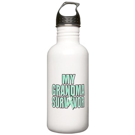 My Grandma is a Survivor Stainless Water Bottle 1.