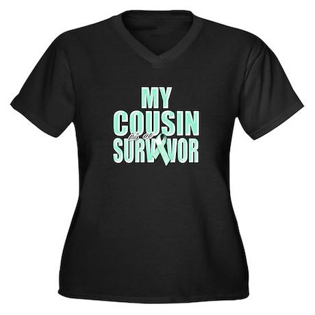 My Cousin is a Survivor Women's Plus Size V-Neck D