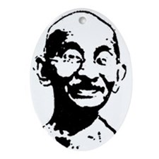 Gandhi shirt Ornament (Oval)