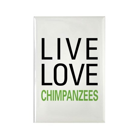 Live Love Chimpanzees Rectangle Magnet (100 pack)