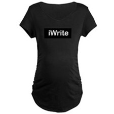 iWritetBlackPNG Maternity T-Shirt