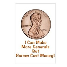 Lincoln Cent-Horses Cost Money Postcards (Package