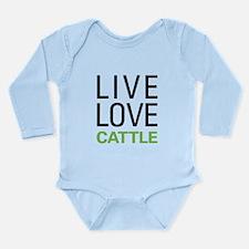 Live Love Cattle Long Sleeve Infant Bodysuit