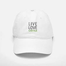 Live Love Cattle Baseball Baseball Cap