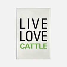 Live Love Cattle Rectangle Magnet