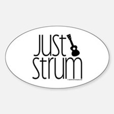 Just Strum Gifts Sticker (Oval)