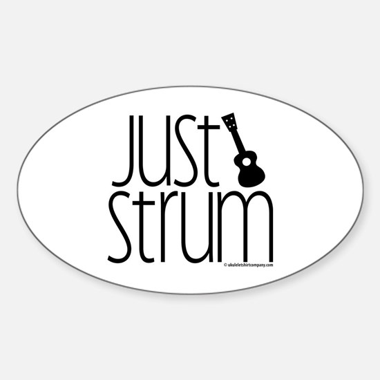 Just Strum Gifts Sticker (Oval)