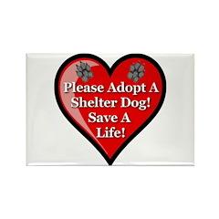 Adopt A Shelter Dog Rectangle Magnet (100 pack)