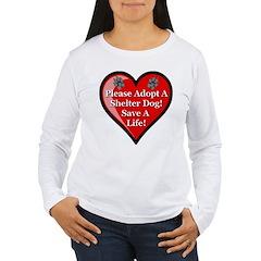 Adopt A Shelter Dog Women's Long Sleeve T-Shirt