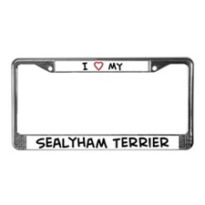 I Love Sealyham Terrier License Plate Frame