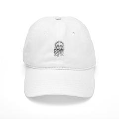 B&W Skull Baseball Cap