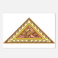 Golden Aztec Eagle Postcards (Package of 8)