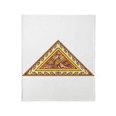 Golden Aztec Eagle Throw Blanket