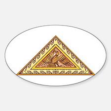 Golden Aztec Eagle Sticker (Oval)