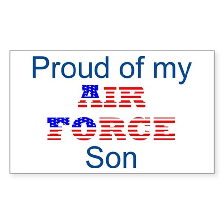 Air Force Son Rectangle Sticker