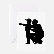 Coaching Silhouette Greeting Card
