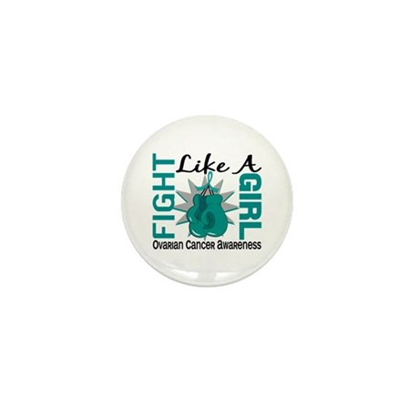 Licensed Fight Like A Girl 8.3 Ovarian Mini Button