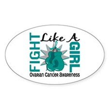 Licensed Fight Like A Girl 8.3 Ovar Decal