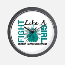 Licensed Fight Like A Girl 8.3 Ovarian Wall Clock