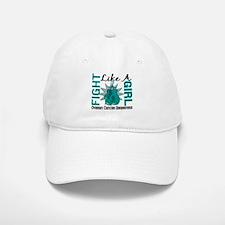 Licensed Fight Like A Girl 8.3 Ovarian Cancer Baseball Baseball Cap