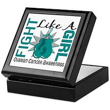 Fight Like A Girl Ovarian Cancer Keepsake Box