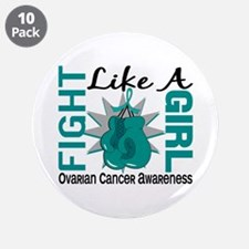 "Licensed Fight Like A Girl 8 3.5"" Button (10 pack)"
