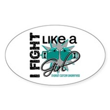 Licensed Fight Like A Girl 13.1 Ova Stickers