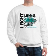 Licensed Fight Like A Girl 13.1 Ovarian Sweatshirt