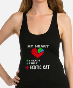 My Heart Friends Family Exotic Racerback Tank Top