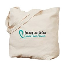 Licensed Fought Like A Girl 16S Ovarian C Tote Bag