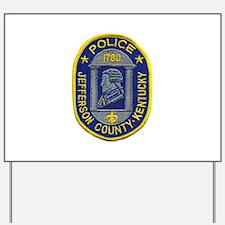 Jefferson County Police Yard Sign