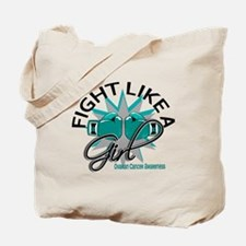 Licensed Fight Like A Girl 12.3 Ovarian C Tote Bag
