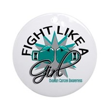 Licensed Fight Like A Girl 12.3 O Ornament (Round)
