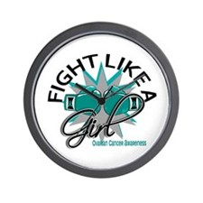 Licensed Fight Like A Girl 12.3 Ovarian Wall Clock