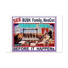 Bu$h TREASON TRIAL Posters