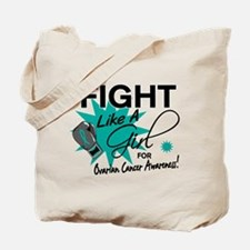 Licensed Fight Like A Girl 11.4 Ovarian C Tote Bag