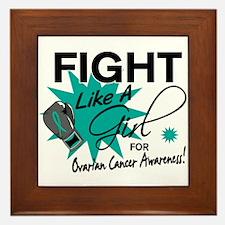 Licensed Fight Like A Girl 11.4 Ovaria Framed Tile