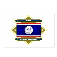 Erie Flag Postcards (Package of 8)