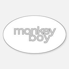 MONKEY BOY Oval Decal