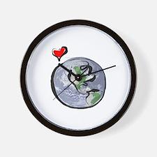 Earth Native Globe Only Wall Clock