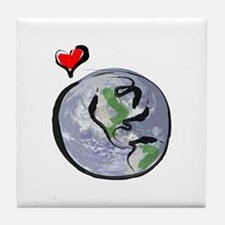 Earth Native Globe Only Tile Coaster