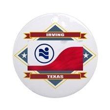 Irving Flag Ornament (Round)