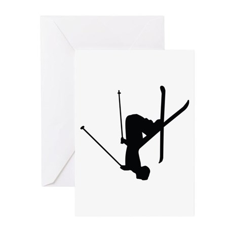 Freestyle Skiing Greeting Cards (Pk of 10)