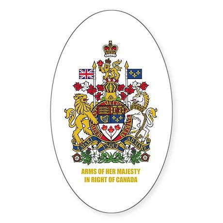 Canadian COA Sticker (Oval)