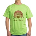Stylish World's Greatest Step Sister Green T-Shirt