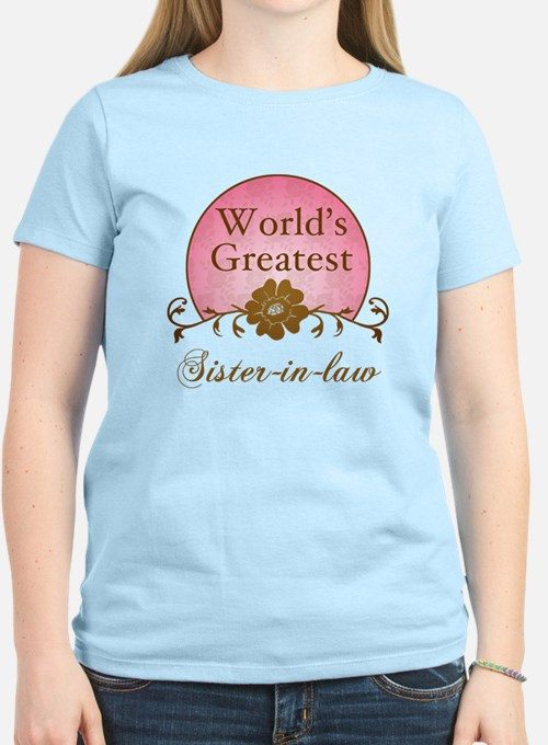 Stylish World's Greatest Sister-In-Law T-Shirt